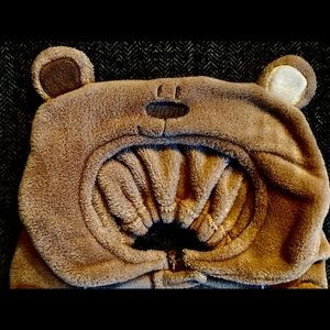 Toys R Us teddy bear car seat cover.